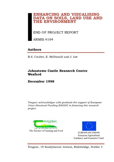 Browsing Teagasc End-of-Project Reports by Publication date