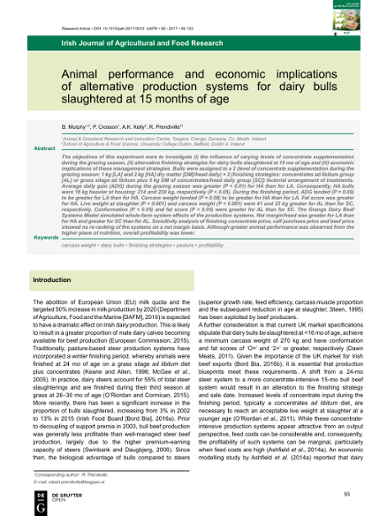 Irish Journal of Agricultural & Food Research